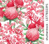 watercolor seamless pattern of...   Shutterstock . vector #1377832391