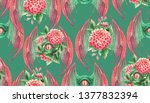 flying dragon eye in green and...   Shutterstock . vector #1377832394