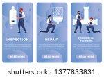 set flat inspection  repair ... | Shutterstock .eps vector #1377833831