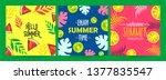 set of different summer poster... | Shutterstock .eps vector #1377835547