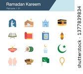 ramadan kareem icons. flat...