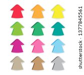 up arrow stickers have many... | Shutterstock .eps vector #1377845561