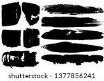 dry brush strokes. black... | Shutterstock .eps vector #1377856241