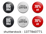 glossy sale button vector... | Shutterstock .eps vector #1377860771