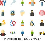 color flat icon set   holy... | Shutterstock .eps vector #1377879167