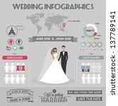 wedding infographics | Shutterstock . vector #137789141