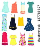 set of summer dresses and... | Shutterstock .eps vector #137789927