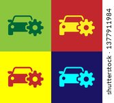 color car service icon isolated ... | Shutterstock .eps vector #1377911984