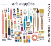 extended toolkit of art... | Shutterstock .eps vector #1377914021