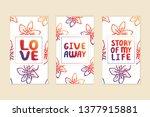 set of social media stories... | Shutterstock .eps vector #1377915881