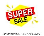 super sale tag vector eps 10   Shutterstock .eps vector #1377916697