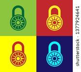 color safe combination lock... | Shutterstock .eps vector #1377924641