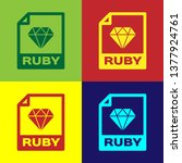 color ruby file document icon.... | Shutterstock .eps vector #1377924761