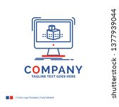 company name logo design for 3d ... | Shutterstock .eps vector #1377939044