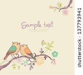 card with birds   invitation... | Shutterstock .eps vector #137793941