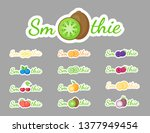 smoothie cocktail label logo... | Shutterstock .eps vector #1377949454