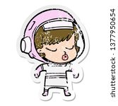 distressed sticker of a cartoon ...   Shutterstock . vector #1377950654