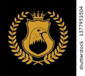 heraldic shield symbol in... | Shutterstock .eps vector #1377953504
