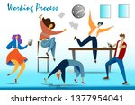 work in deadline flat... | Shutterstock . vector #1377954041