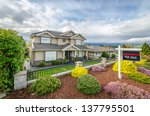 house for sale real estate sign ... | Shutterstock . vector #137795501