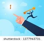 get a guidance to put a key in... | Shutterstock .eps vector #1377963731