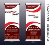 banner roll up design  business ... | Shutterstock .eps vector #1377969917