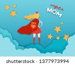 mothers day greeting card in... | Shutterstock .eps vector #1377973994