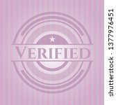 verified retro style pink emblem | Shutterstock .eps vector #1377976451