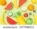 top view of various handmade... | Shutterstock . vector #1377988211