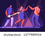 male and female artists... | Shutterstock .eps vector #1377989924