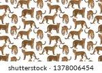 leopard seampless pattern.... | Shutterstock .eps vector #1378006454