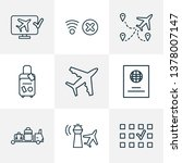 transportation icons line style ... | Shutterstock .eps vector #1378007147