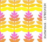 vector color leaves seamless... | Shutterstock .eps vector #1378014134