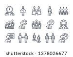 business people related line... | Shutterstock .eps vector #1378026677