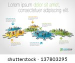 template for advertising... | Shutterstock .eps vector #137803295