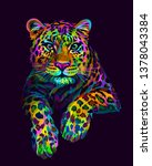leopard   jaguar. abstract ... | Shutterstock .eps vector #1378043384