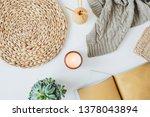 boho style modern minimal home... | Shutterstock . vector #1378043894