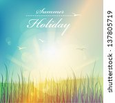 summer holiday  beautiful... | Shutterstock .eps vector #137805719