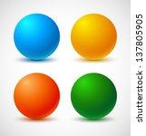 set of colorful balls. vector... | Shutterstock .eps vector #137805905