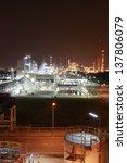 night scene of chemical plant   ... | Shutterstock . vector #137806079