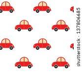 seamles cute car pattern | Shutterstock .eps vector #137806685