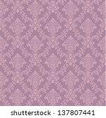 Purple Seamless Damask Wallpaper
