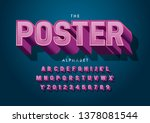 vector of stylized modern font... | Shutterstock .eps vector #1378081544