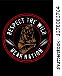 bear nation logo | Shutterstock .eps vector #1378083764