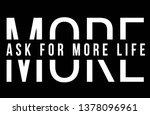 slogan fashion print  | Shutterstock .eps vector #1378096961