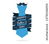 fathers day. tie in flat design.... | Shutterstock .eps vector #1378106054