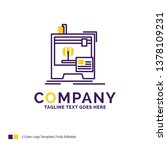 company name logo design for 3d ... | Shutterstock .eps vector #1378109231