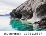 unusual marble caves on the... | Shutterstock . vector #1378115537