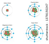 representation of element atoms ... | Shutterstock .eps vector #1378150247