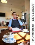 young small business owner man...   Shutterstock . vector #1378180307